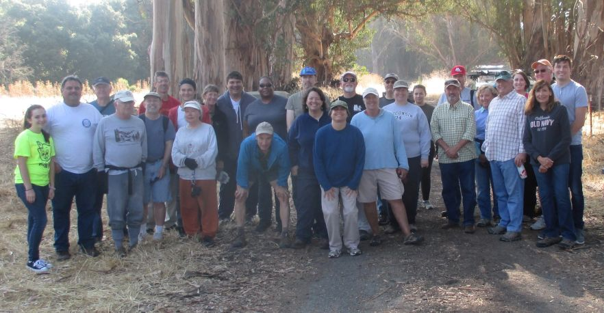 Volunteers for the upper watershed cleanup.