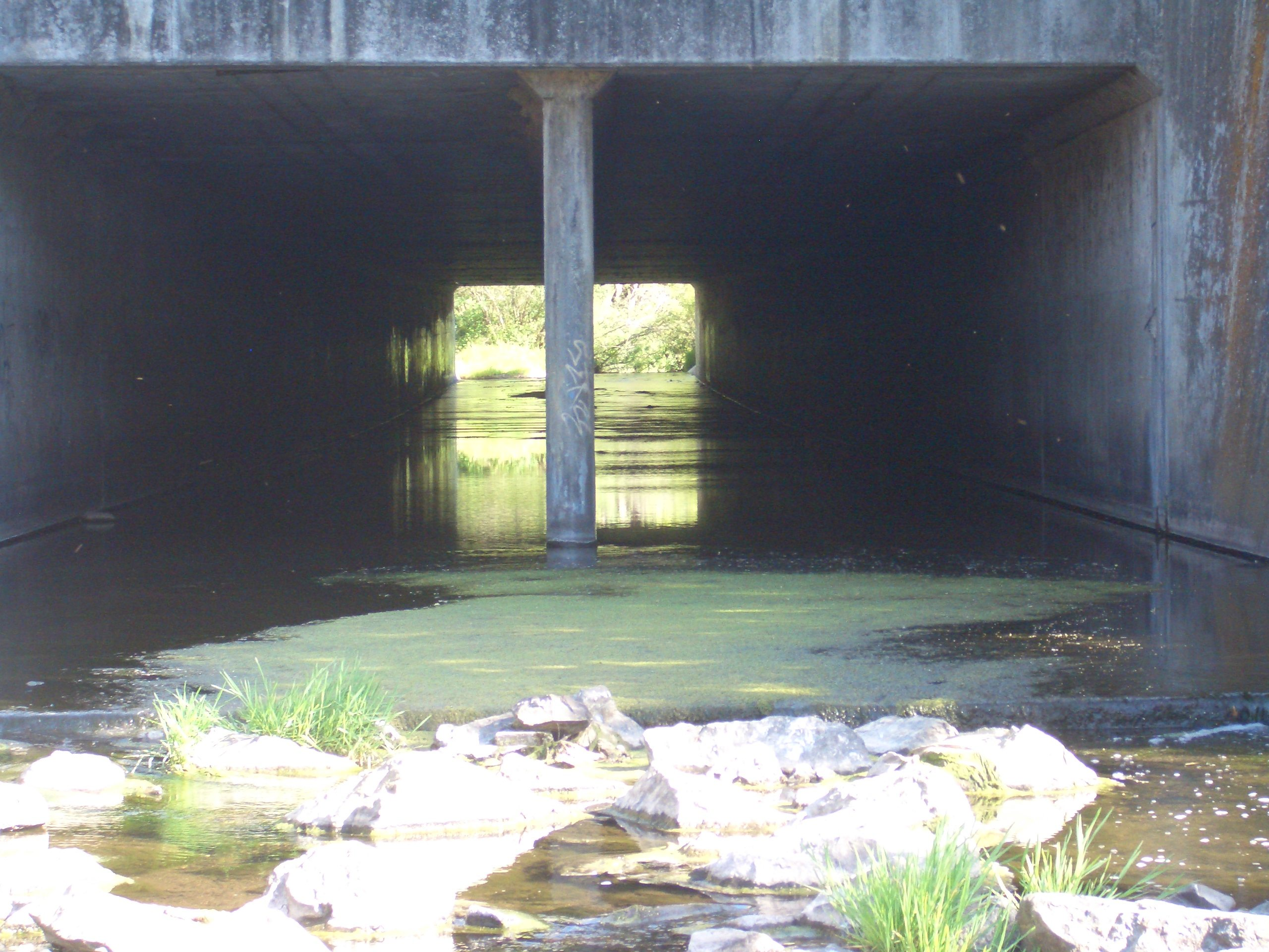 Double box culvert under I-80 prior to construction